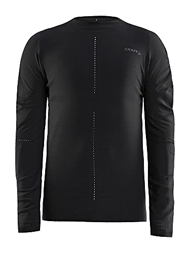Craft CTM T-Shirt Manches Longues à col Ras-du-Cou Homme, Black