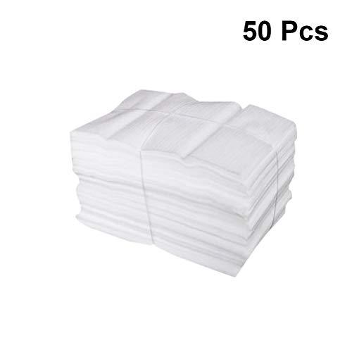 Toyvian, 50 sacchetti imbottiti in schiuma per proteggere piatti, bicchieri, bottiglie di vino, bianco, 25 x 30 cm