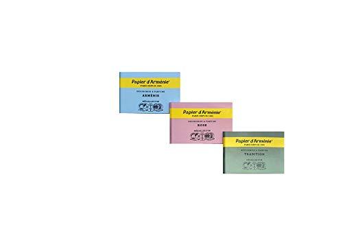 Lot de 3 papiers parfumés d'Arménie - 3 carnets différents.