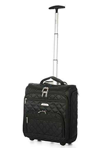 Preisvergleich Produktbild Aero Kleine Under Kabine Handgepäck Trolley-Tasche für Easyjet Plus Flexi-Tarif,  Upfront & mehr Fußraum (passt 42x36x20cm),  Kinder / Kinder & Wochenendreisen (Schwarz)