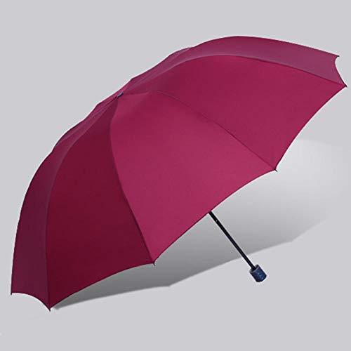 Sonnenschirm Regenschirm Super Große Klappbare Regenschirm Regen Frauen Winddicht Sonnig Und Regnerisch Männlich Doppelt Ganze Familie Regenschirme Burgund
