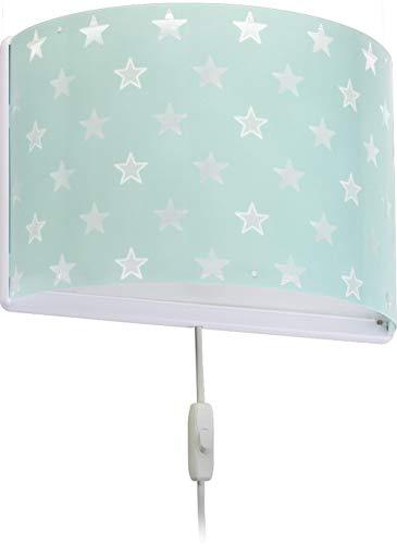 Dalber kinder Wandlampe, Kinderlampe Wandleuchte Sterne Stars Malve Grün