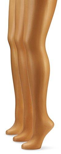 Nur Die Damen Strumpfhose 725949/3er Pack Transparent, 15 DEN, Gr. 40 (Herstellergröße: S (38-40)), braun (bronze 213)
