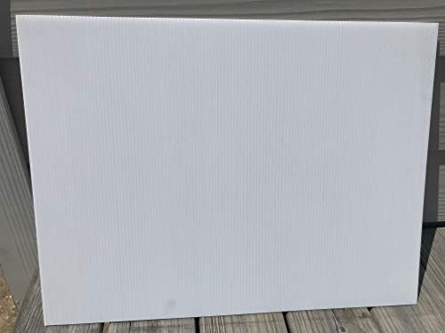 """40 White Blank Signs White 18""""x24"""" x 4mm Corrugated Plastic Sign Board, Bundles of 40 Pieces Blank Signs Panel Flute 18'', Great for Advertising Any Event, Ship Same Day"""