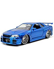 Jada Toys–Fast & Furious 124fundido Nissan Gt R R34–Vehículo