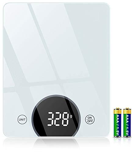 Cocoda Balance de Cuisine, 10kg Balance Cuisine Électronique avec Précision de 1g & 4 Unités de Pesée, Fonction Tare, 21x16cm Plus Large Plateforme, Balance Alimentaire à Écran LED-Piles AAA Incluses