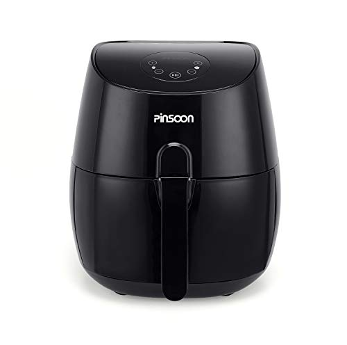 PINSOON Air Fryer 5.8 QT 1700W, Hot Air Fryers Oven Oilless Cooker with Nonstick Basket Auto Shut-Off Temperature and Time Control, Health Cooking With Free Recipe