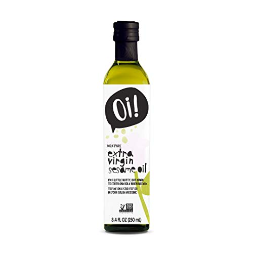 Oi! Extra Virgin Sesame Oil 8.4 oz, Non-GMO, Gluten Free for Cooking, Baking, and Grilling Asian Inspired Dishes