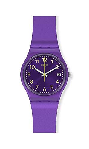 Swatch Damen Analog Quarz Uhr mit Silicone Armband GV402