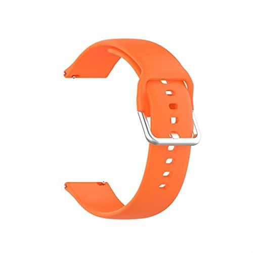 LXFFCOK Adecuado para Xiaomi Haylou Solar. LS05 Reloj Inteligente Color Puro Hebilla de Plata Correa Deportiva Accesorios (Band Color : 02)