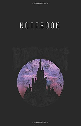 Notebook: Disney Beauty The Beast Vintage Retro Graphic Lined Pages Notebook White Paper Journal with Black Cover Medium Size 5.5in x 8.5in x 116 pages for Kids or Him Her