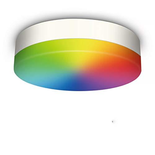 Oraymin 12W LED Deckenleuchte mit Bluetooth Lautsprecher und Fernbedienung,Smart WiFi RGB Dimmbar Deckenlampe, IP54 Wasserfest LED Leuchte Badlampe,für Kinderzimmerlampe Schlafzimmer Wohnzimmer
