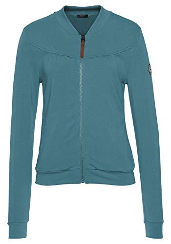 DOTIN Damen Jacke Kurzjacke Langarm Sweatshirt Übergangsjacke Stehkragen Reißverschluss Sweatjacke