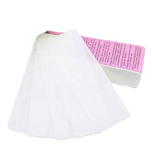 Bandes de cire d'épilation 100PCS pour l'épilation du visage et du corps, papier dépilatoire grands tissus non tissés professionnels