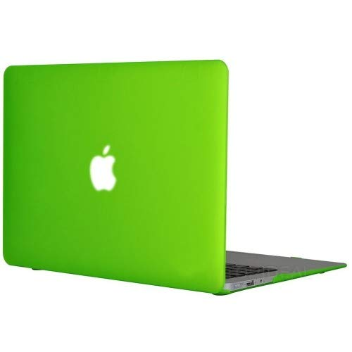 Enthopia MacBook Air 13 Inch Case (Release 2010-2017 Version - A1369 & A1466), Plastic Hard Case & Keyboard Cover and Dust Plug (Will not fit 2018 Model) – (Green) with Logo Cut