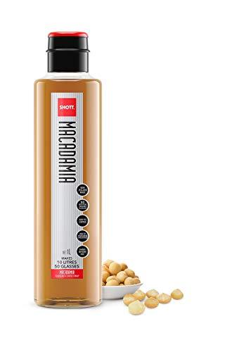 Macadamia Sirup, 1 Liter, Hoher Fruchtsaftgehalt, Geringer Zuckergehalt, Ideal für Kaffee, Heiße Schokolade, Milchshakes & Smoothies, Für Veganer geeignet, Laktose- und Glutenfrei