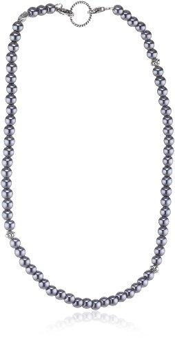 EDC Damen-Halsband Edelstahl rhodiniert Perlmutt Innocent Pearly Grey grau EENL10247A420
