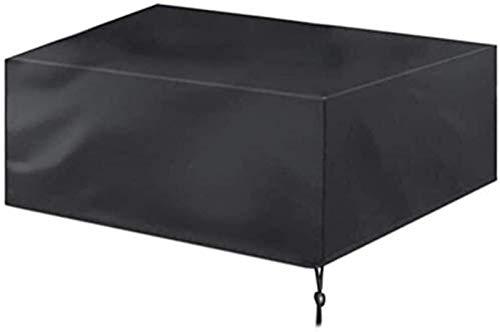 Fundas Protectoras para Muebles de Patio Fundas para mesas de jardín A Prueba de Viento Impermeable Lluvia Nieve Polvo A Prueba de Viento (Negro / 126x126x74cm)