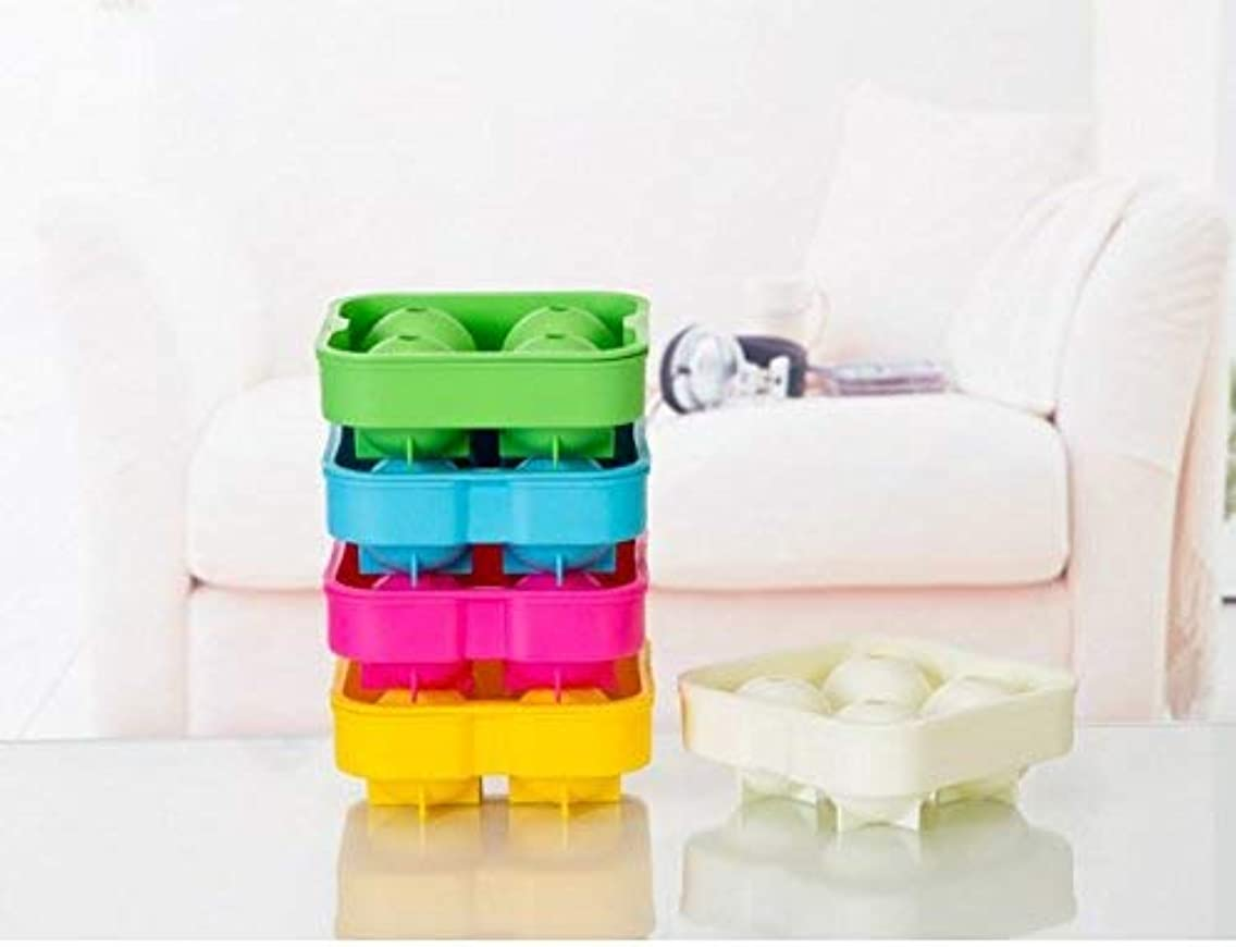 NeDonald Ice Ball Mold Sphere Silicone Ice Rounds Maker ?Random Color Send,1pcs