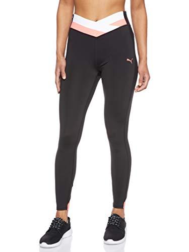 PUMA Damen Leggings HIT Feel IT 7/8 Tight, Puma Black-Pink Alert, S, 518328