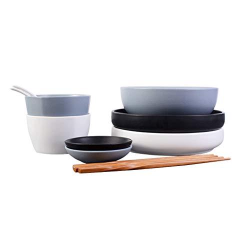 Elegante Vajilla de Cocina de Estilo nórdico, vajilla combinada, vajilla para el hogar, Creativa Simple Comidas Diarias (Color : C)