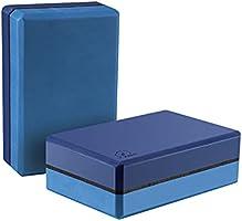 YUNMAI Lot de 2 Briques Yoga Haute Densité Eva Blocs Yoga Antidérapant Eco Non Toxique Design de Mode Légères 23 X 15 X...