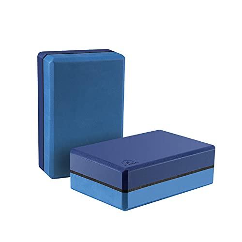 YUNMAI 2er Yogablock Set, Yoga Block aus Eva-Schaum Yogakork Klotz Korkblock für Yoga oder Pilates Fitness Unterstützung für Anfänger und Fortgeschrittene 23 x 15 x 7,7 cm(Blau)