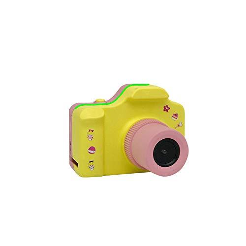 TreeLeaff Cámara de bebé, mini cámara digital recargable, pantalla digital de bebé, grabación de fotos para niños de 3 a 8 años, mini cámara réflex HD rosa récord
