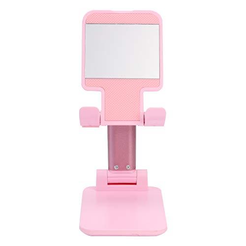 SANGSHI Soporte de escritorio de soporte ajustable plegable de plástico para iPhone, iPad, smartphone y tablet