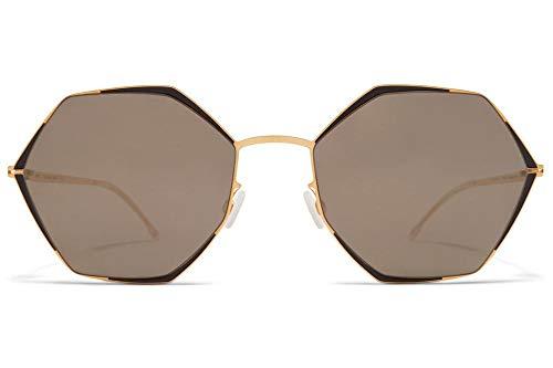 Gafas de Sol Mykita ALESSIA GOLD JET BLACK/BRILLANT DARK GREY SOLID 55/21/150 unisex