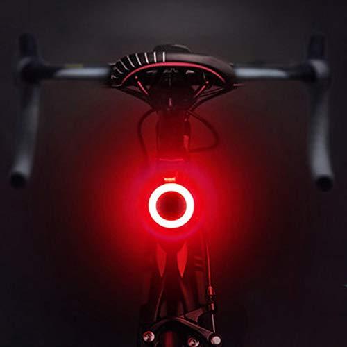 Fahrradlicht, USB wiederaufladbar, Fahrradlicht, LED-Lampe, Rücklicht für Mountainbike, Sattelstütze, Fahrradzubehör, Ringform