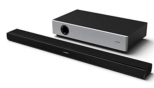SHARP HT-SBW160, 2.1 TV-Heimkino-System, Ultra-Slim-Soundbar mit kabellosem Subwoofer, Dynamic Range Control, Bluetooth, HDMI ARC/CEC und 360W Gesamtleistung, Schwarz