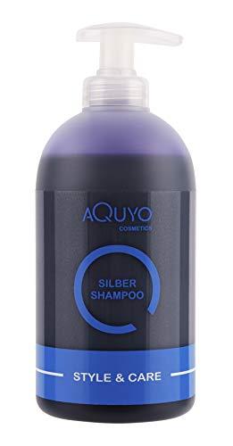 Style & Care Silber Shampoo, Anti Gelbstich Shampoo für graues, hell gefärbtes oder blondes Haar (500ml) | Silbershampoo spendet Feuchtigkeit und steigert Farbbrillanz für blondiertes Haar