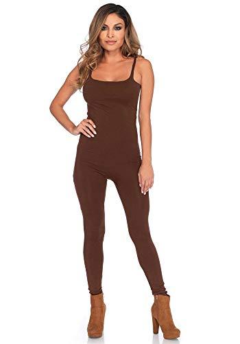 shoperama Basic Catsuit für Damen-Kostüme von Leg Avenue Kostüm-Zubehör Jumpsuit Overall, Farbe:Braun, Größe:M/L