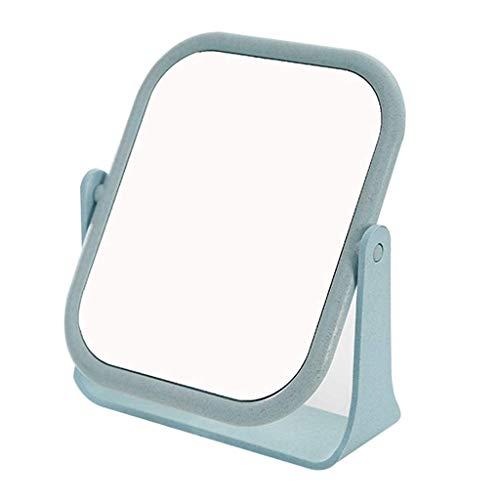Documento a quattro colori Doppio specchio Desktop Desktop Studente Studente Studente Piccolo portatile Dressing Princess Net Red Desk 15x18cm (Colore: Blu) Specchio per il trucco ( Color : Blue )