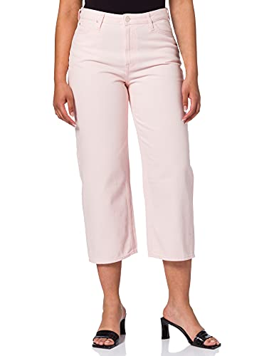 Lee Wide Leg Jeans Straight, Rosa (Crystal Pink Na), 40 IT (26W/31L) Donna