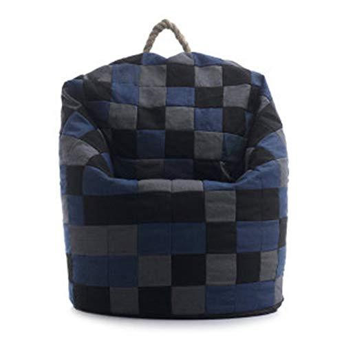 Anmy Bohnenbeutel Stuhl Aufblasbares Sofa - Wohnzimmer Outdoor Bohnenbeutel Stuhl Liege Ultraweiche aufblasbare Faule Sofa Couch Recliner Gaming Sitzsack (Farbe : Blau, Size : 75x70cm)