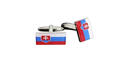 Flaggenfritze® Manschettenknöpfe Fahne/Flagge Slowakei