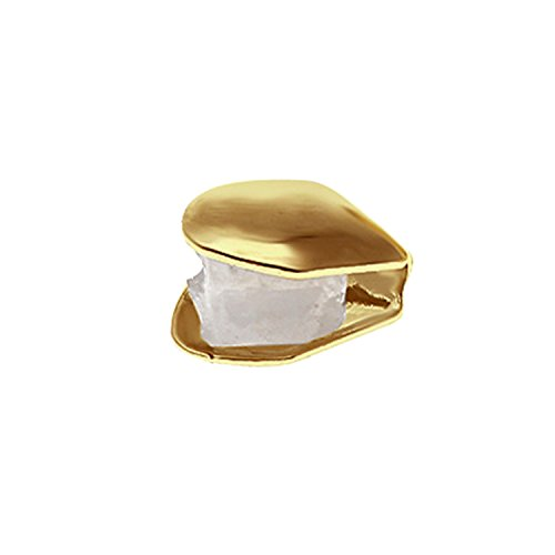 Fashion Portable Single Zahnkappe plattiert Gold Hip Hop Stil Zahn Grill Kappe Golden