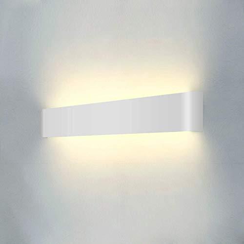 Wowatt LED Wandleuchte Innen Wandlampe Weiß Wandstrahler 20W Moderne Wandbeleuchtung Kinderzimmer Schlafzimmer Wandlicht Wandmontage Lampe Deko 2800K Warmweiß 61cm