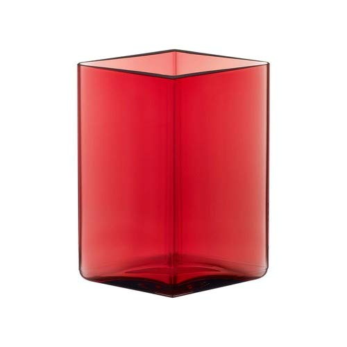 Iittala 1015596 Ruutu Vase, 11,5 cm x 14 cm, Cranberry