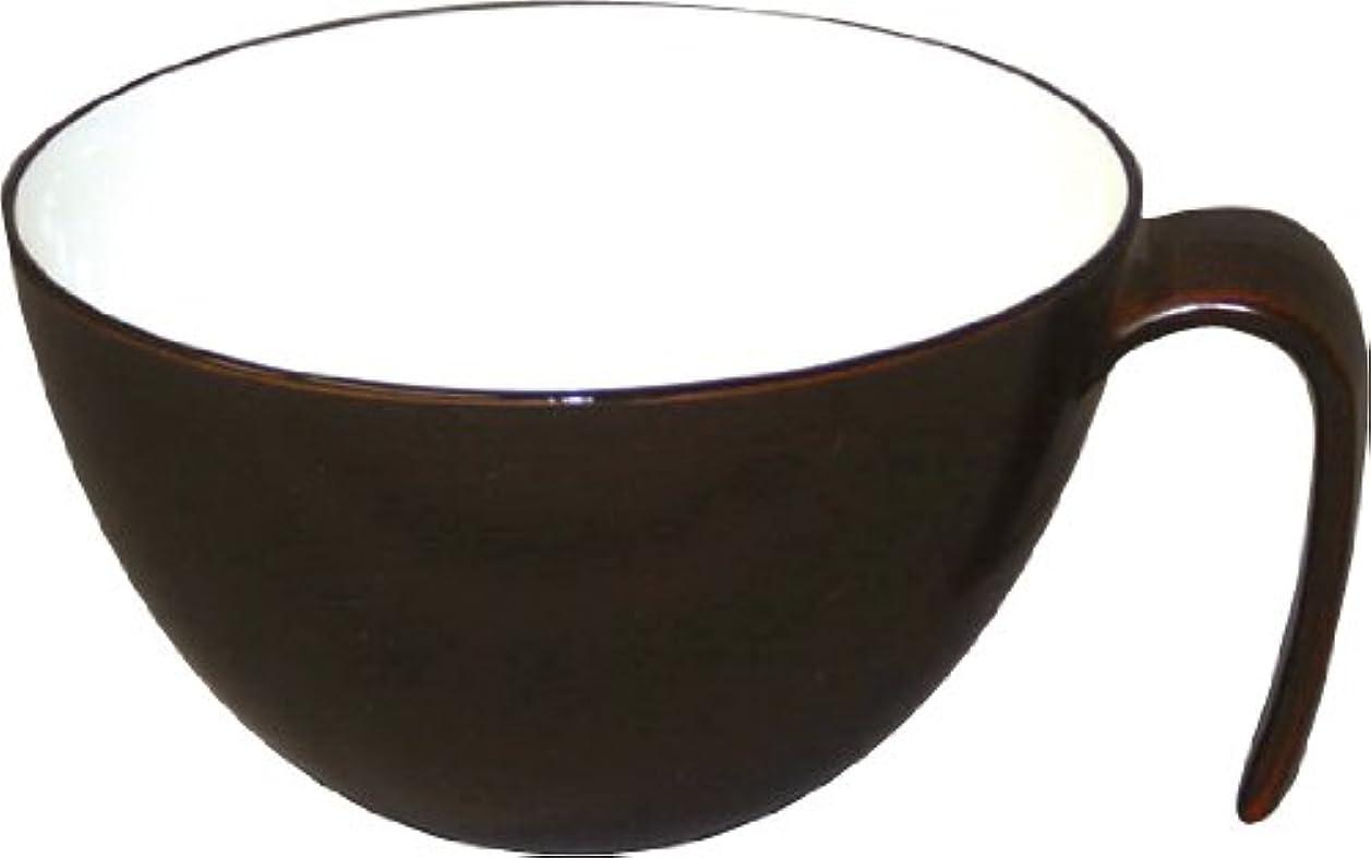 チョコレート敏感な十億petit aide 取っ手付スープ椀 木目 HS-36