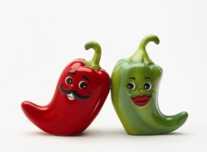 Pacific Giftware 1 X Hot Chili Peppers Magnetic Salt & Pepper Shakers