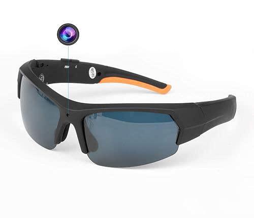 aheadad - Gafas de sol con Bluetooth y cámara portátil con Bluetooth, cámara deportiva, práctica 1080P, grabadora de vídeo HD para escalada al aire libre