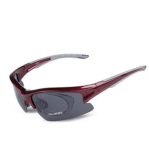 HXiaDyG Fietsbril, 5 vissen, verwisselbare lens, paardrijden, uv-zonnebril, frame, heren, auto-design, hometrainer, mannen vrouwen