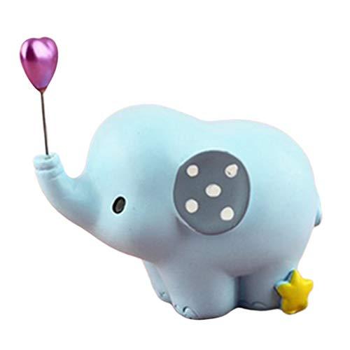 Baoblaze de Elefante Artesanal de Resina, Figuras de Decoración para Tartas, Regalos Creativos para Niños - Azul, tal como se describe