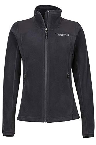 Marmot Wm's Flashpoint Jacket Veste POLAIRE, Veste d'extérieur à fermeture éclair Courante, Respirante, résistante au vent Femme Black FR: XS (Taille Fabricant: XS)