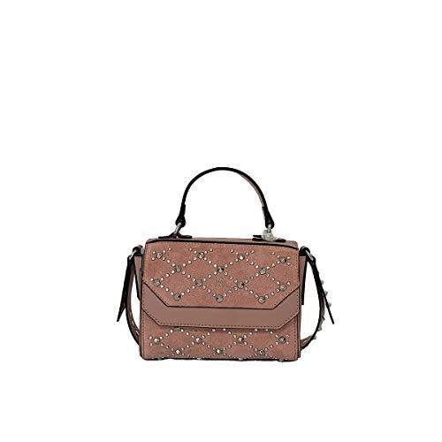 La Carrie Handtasche, Mini-Bag, Schultergurt mit Nieten, Kollektion Herbst und Winter, Farbe Rosa, Größe 23 x 9 x 15 cm