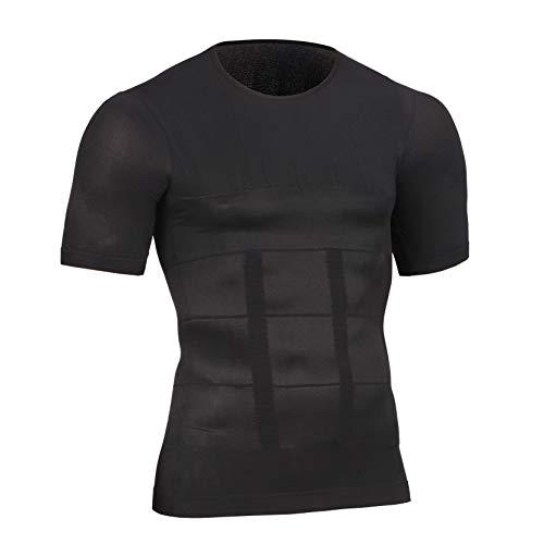 加圧シャツ 加圧インナーシャツ 加圧トレーニングウェア Uネック 加圧式脂肪燃焼Tシャツ 半袖 スポーツウェア 補正下着 姿勢矯正