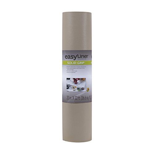 Duck Non-Adhesive Shelf Liner Solid Grip EasyLiner, 20-inch x 22 Feet, Taupe